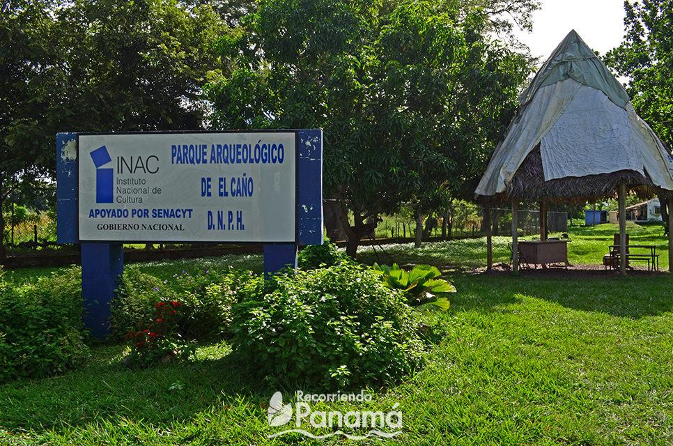 Entrada al Parque Arqueológico El Caño.