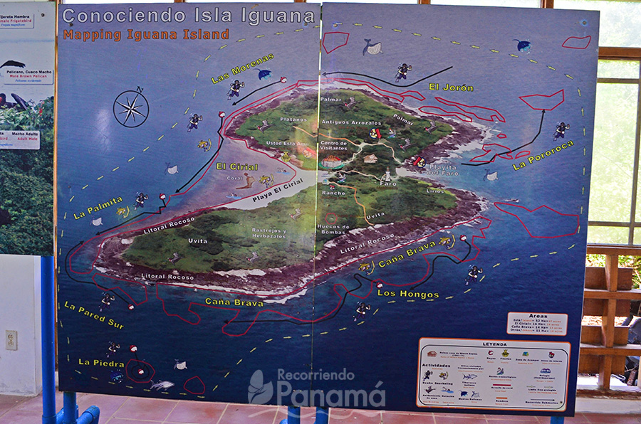 Mapa de Isla Iguana.