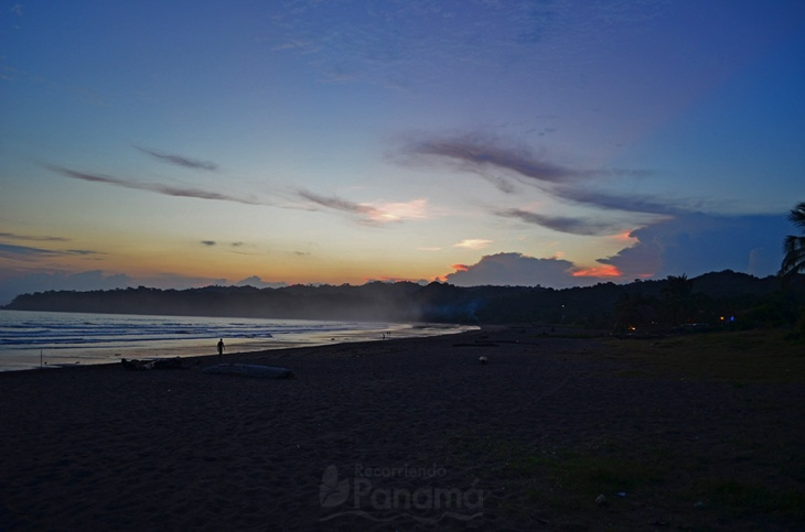 Atardecer en Playa Venao.