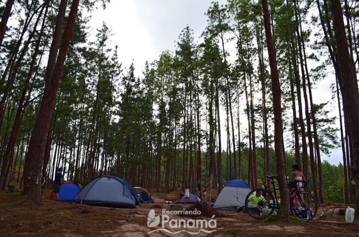 1ra área de Camping, la del Lago.
