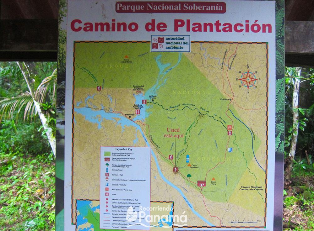 Mapa del Sendero.
