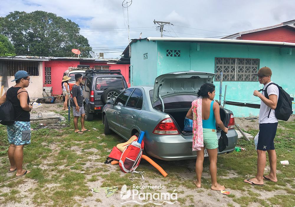 Estacionamiento en Playa Farallón.