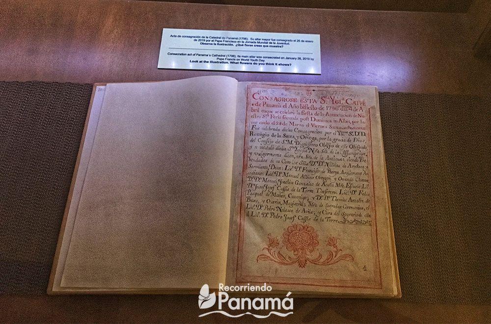 Acta de Consagración de la Catedral de Panamá