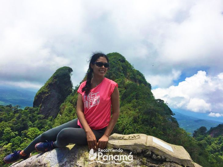 Yo en la Cima del Cerro Trinidad, foto por Yuri.