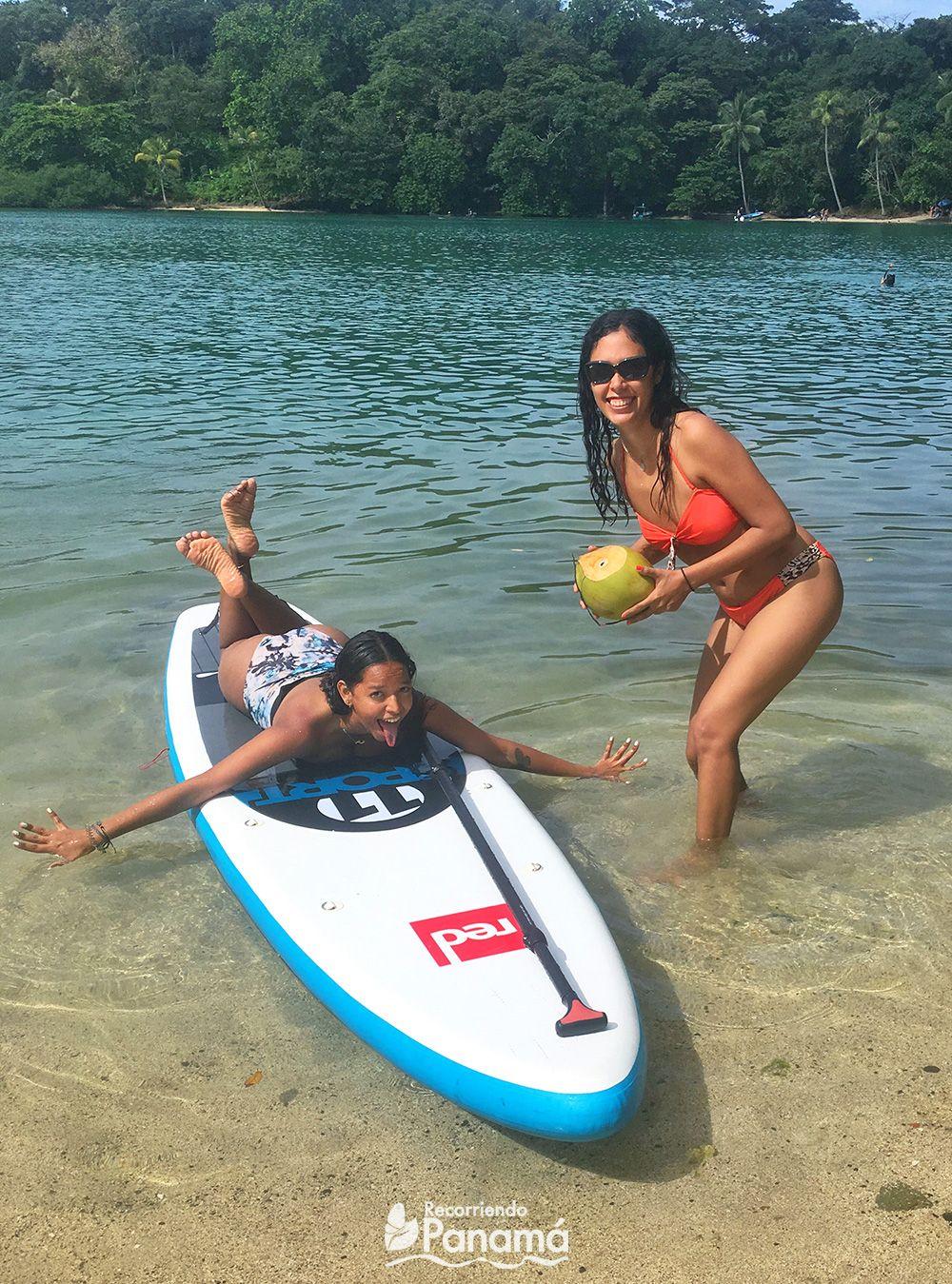 Una foto con Ari y el Paddle de Carlos.