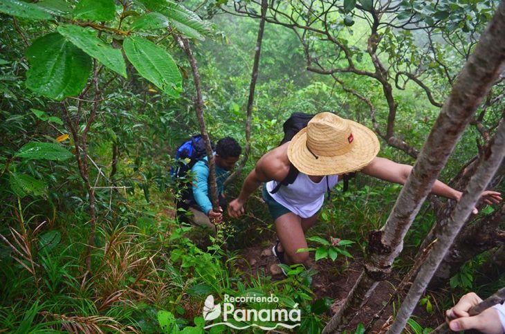 Camino a la primera cascada, la foto la tome cuando regresamos.