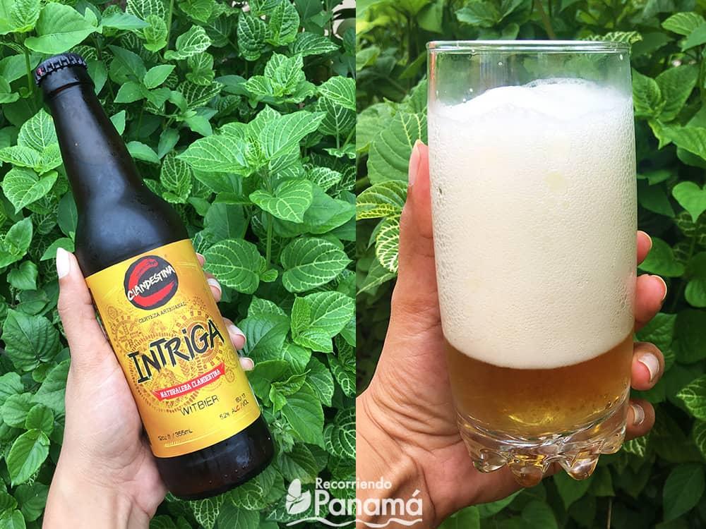 Cerveza Intriga de Cervecería Clandestina.